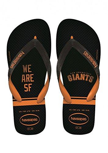 Havaianas Unisex Top MLB San Francisco Giants Sandal (39-40 M Bra, Black/Neon Orange)