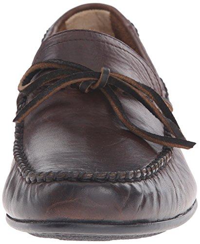 FRYE Mens Lewis Tie Slip-On Loafer Dark Brown Soft Vintage Leather