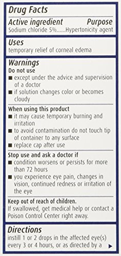 Bausch & Lomb Pharmaceuticals Muro 128, 5 Percent Solution, (15 mL), 0.5 oz. by Bausch & Lomb (Image #1)
