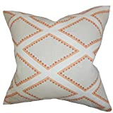 "The Pillow Collection KING-BROOKHAVEN-CORAL-L100 Gray Coral Alaric Geometric Bedding Sham, King/20"" x 36"""