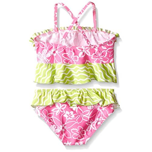 b678a1abe0 Flap Happy Girls' Upf 50+ Hana Crossback 2-Piece Swimsuit ...