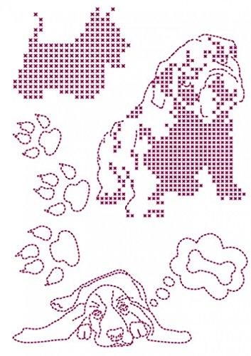 DMC Custom By Me Embroidery Transfer Magic Sheet Dog (Embroidery Dmc Transfer)