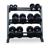 WILD GYM New Pro Gym Wide Heavy Duty 3 Tier Steel Dumbbell Rack Storage Holder Stand