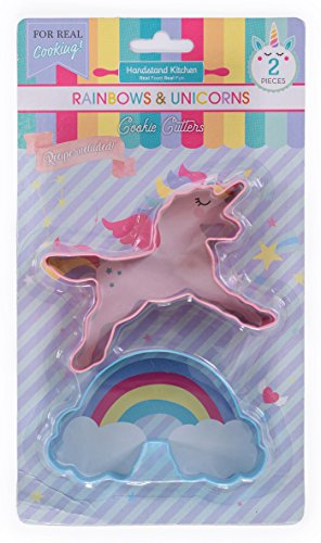 Handstand Kitchen Rainbows and Unicorns 2-piece Cookie Cutter Set