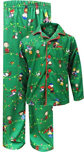 Peanuts Boys Charlie Brown Christmas Traditional Pajama (4/5) ()