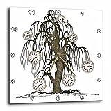 3dRose Steampunk Weeping Tree Design – Wall Clock, 15 by 15-Inch (dpp_102676_3)