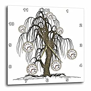 3dRose Steampunk Weeping Tree Design – Wall Clock, 15 by 15-Inch (DPP_102676_3)