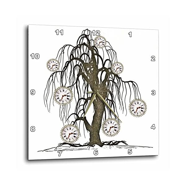 3dRose Steampunk Weeping Tree Design - Wall Clock, 15 by 15-Inch (DPP_102676_3) 3