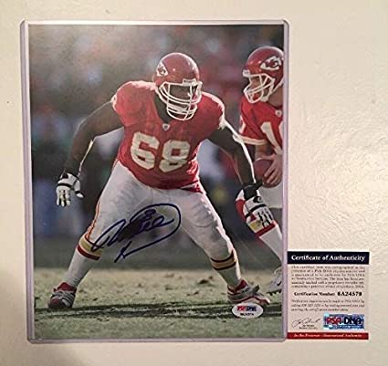Image Unavailable. Image not available for. Color  Will Shields Chiefs Hof  Autographed Signed 8x10 Football ... 53c379108