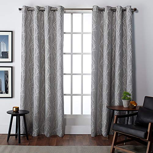 Exclusive Home Curtains Finesse Window Curtain Panel Pair with Grommet Top, 54x84, Ash Grey, 2 Piece
