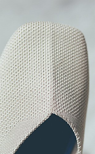 Chaussures Respirante Doux Carrée Bouche Paresseux Stretch Tissu Tête Mode DIDIDD Abricot 39 Fond Shallow gU6xPgA