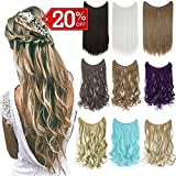 Ombre Invisible Secret Wire Miracle Hair Extensions Fish Line Headband Hairpiece Wavy Curly Synthetic Hairpiece