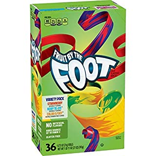 Betty Crocker Fruit Snacks Fruit By The Foot Strawberry/Berry Tie-Dye/Color By The Foot, 27 Oz, 36Count-set of 3