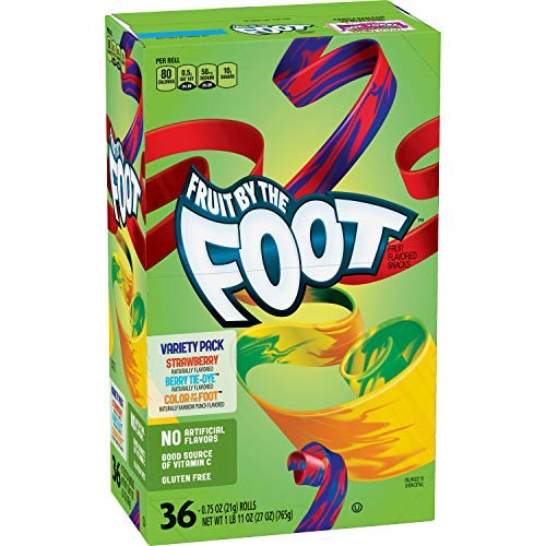 Betty Crocker Fruit Snacks Fruit By The Foot Strawberry/Berry Tie-Dye/Color By The Foot, 27 Oz, 36Count-set of 10