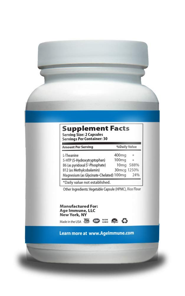 Amazon.com: Anxiety Relief Supplement Complex with L ...