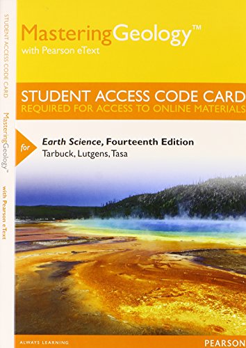 Earth Science Masteringgeology Access