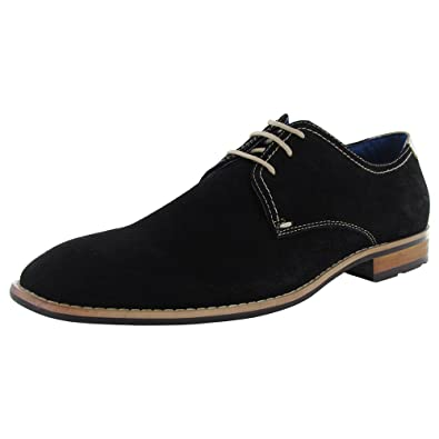 Steve Madden Mens P-Elvin Lace Up Casual Oxford Shoe, Black, US 10