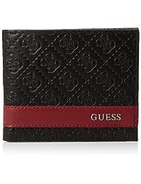 Guess Billetera delgada de piel con detalles de moda para hombre