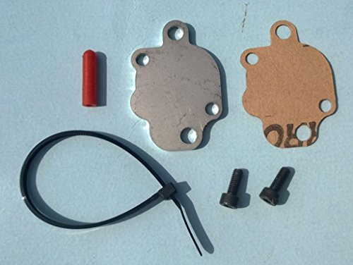 Yamaha PW50 Oil Injection Block Off Plate with Gasket Hardware Port Cap