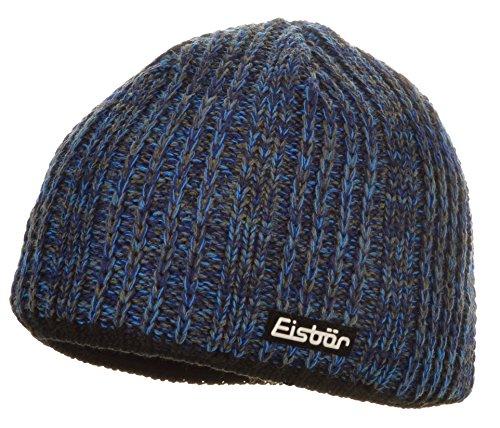 Eisbär - Gorro de Punto - para Hombre col.028 blau-schwarz