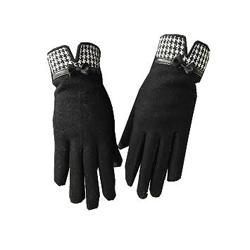 e3d0f451f49c87 gloves Dünne Schnitthandschuhe/Wollhandschuhe/Damenhandschuhe mit  Touchscreen (Farbe: C: Kein Kaschmir