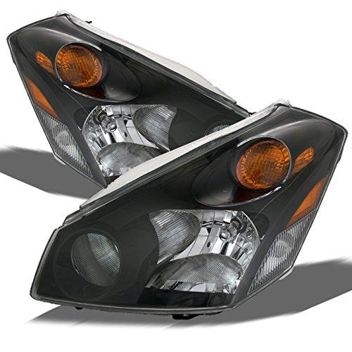 For Nissan Quest Base S SL SE Van Replacement Headlights Driver/Passenger Black Head Lamps New