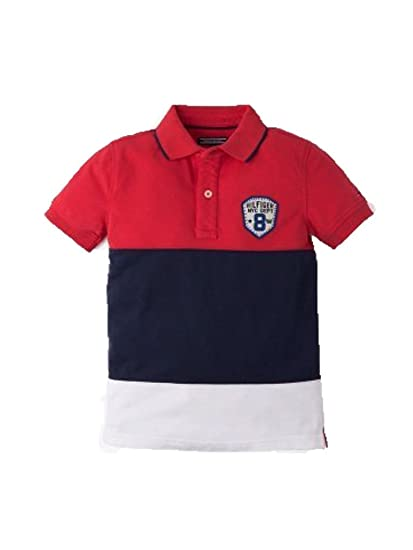 Tommy Hilfiger - Cut and Sewn de niños - Color - Rojo/Marino ...