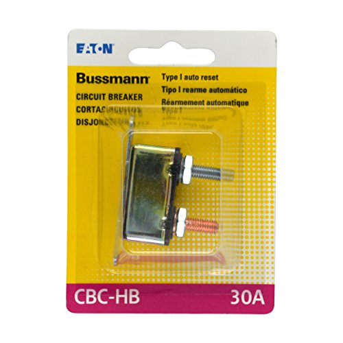 Bussmann (BP/CBC-30HB-RP) 30 Amp Type-I Stud Mount Circuit Breaker with Lengthwise (Two Circuit System)