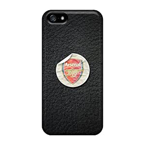 Shock-Absorbing Cell-phone Hard Covers For Apple Iphone 5/5s With Support Your Personal Customized Beautiful Arsenal Series PhilHolmes