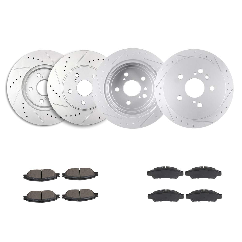 Rear Rotors /& Ceramic Pads For 2004 2005 2006 2007 2008 2009 2010 Toyota Sienna