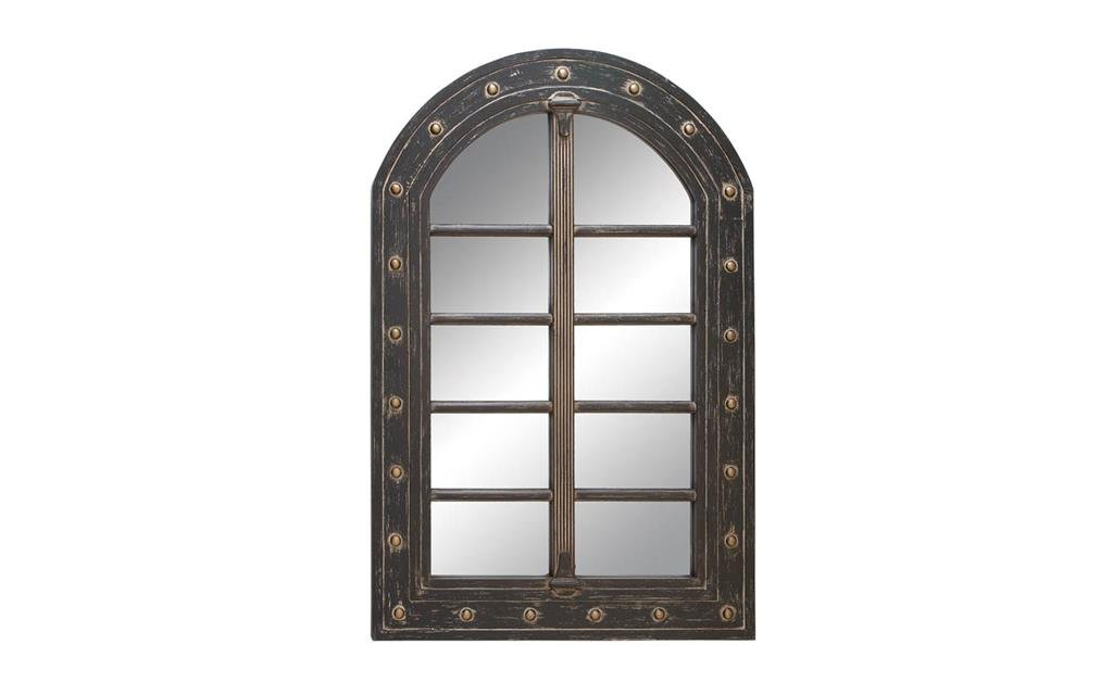 Deco 79 Wall Accent Mirrors Wood Mirror, 48 by 32-Inch