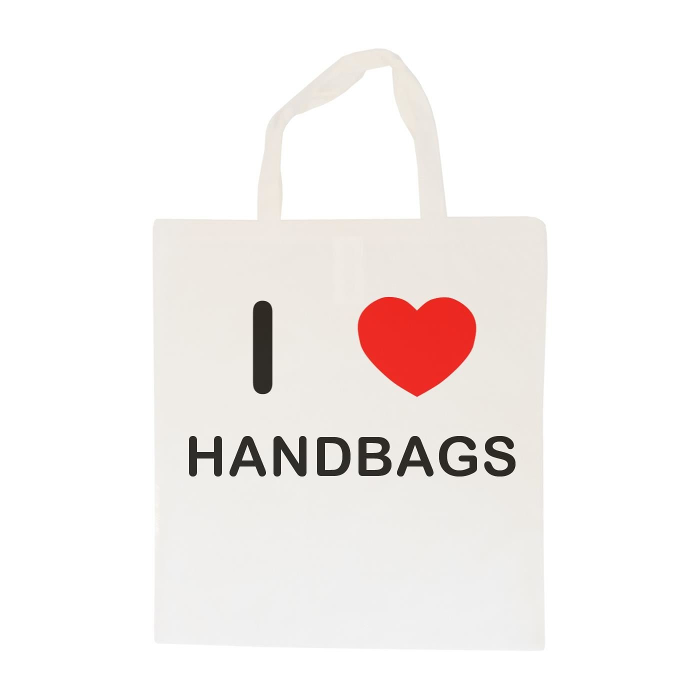I Love Handbags Cotton Maxi Shopping Bag