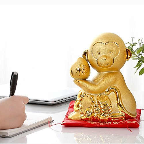 Piggy Bank Ceramic Decoration Monkey Cartoon Gift (Size : S) by XXDP (Image #5)