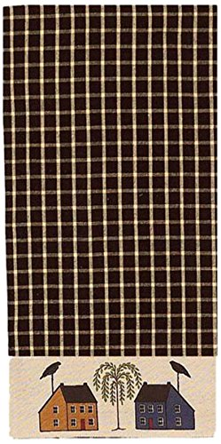 (Home Collection by Raghu Saltbox Houses Willow Nutmeg Towel, 18 x 28