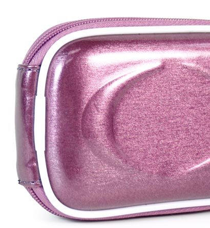 - Metallic Purple Color JJAK1 High Quality Mini Hard Shell Carrying Case for Sony Cybershot W350 DSC-W350 14 14.1MP Digital Camera Cover (+ 1pc Name TAG) -- Best Seller on Amazon!
