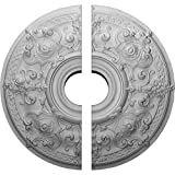 Ekena Millwork CM28OS2-06000 28 1/8''OD x 6''ID x 1 3/4''P Oslo Ceiling Medallion, Two Piece (Fits Canopies up to 10 1/2''), Factory Primed White