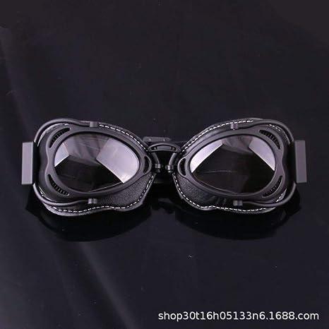 Yangjing-hl Gafas Retro Casco Gafas de Montar Gafas a Prueba ...