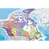 Laminated Education Maxi Poster featuring A Political Map of Canada 91.5x61cm