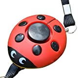 Self-Protection Alarm, Designed as Little Red LadyBug, for Use by Children/Adult To Help Scare Off Attackers Or In Case of Emergency