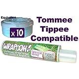 Wrapooh - Delineador de cassete de cesto de pañales compatible con Tommee Tippee. Ahora equivalente a aproximadamente 10 cassetes 'fit all tubs'. Por favor lea la descripción.