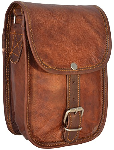 Gusti Pelle studio Willy Borsa Cuoio a mano spalla Borsettaa mano Marrone pelle party disco vintage Marrone H6
