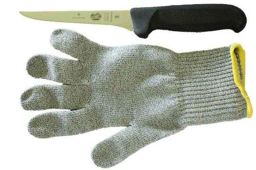 Forschner-Victorinox 5 inch Boning Knife & Medium Polar Bear PawGard Cut Resistant Glove