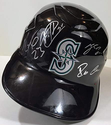 - Felix Hernandez Robinson Cano Cruz Seager Autographed Signed Autograph Mariners F/S Helmet Bas Loa