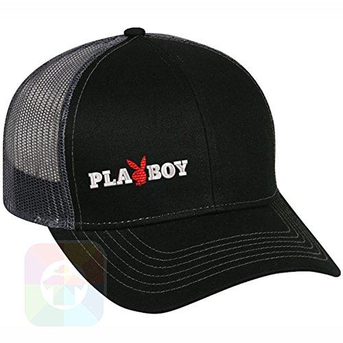Custom Tshirts and Hats Playboy Structured Snapback Baseball Mesh Hat Cap #1040