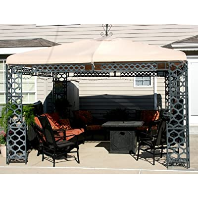 Garden Winds Palermo Gazebo Replacement Canopy Top Cover - RipLock 350 : Garden & Outdoor