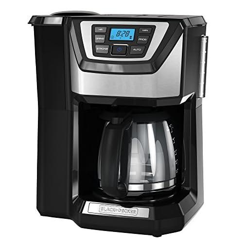 BLACK+DECKER 12-Cup Mill and Brew Coffeemaker, Black