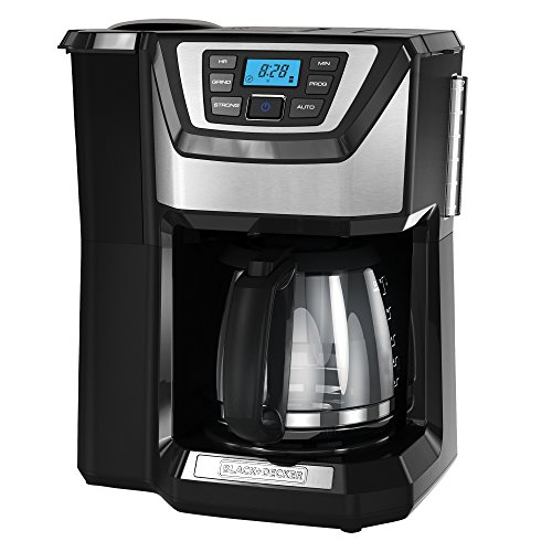 (BLACK+DECKER 12-Cup Mill and Brew Coffeemaker, Black, CM5000B)