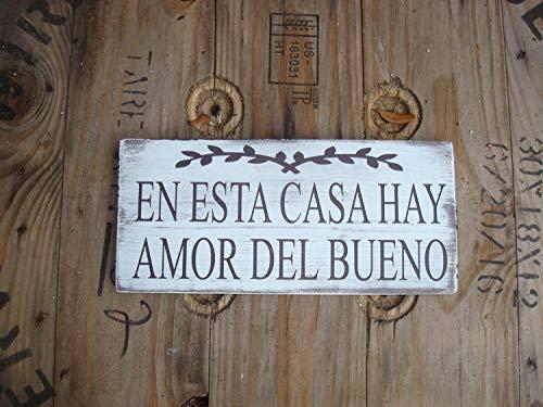 bawansign En esta casa Hay Amor del Bueno - Cartel de Madera ...