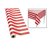 Fun Express Red and White Striped Tablecloth Roll