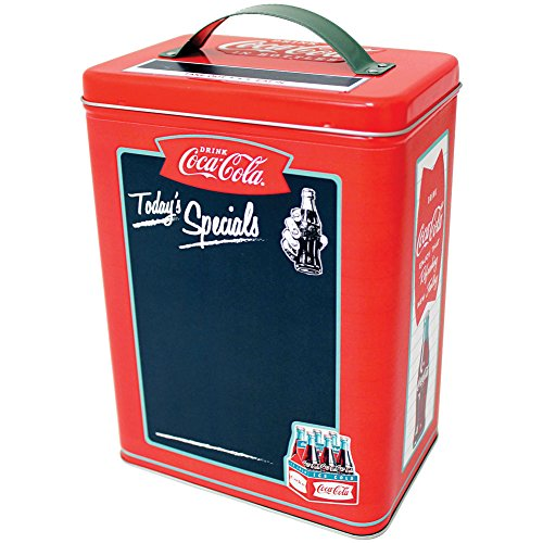 Coca Cola Decorative Storage Canister Chalkboard